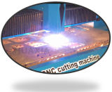 Stee inoxidable Cortadora de plasma CNC con THC