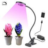 La testa doppia LED coltiva l'indicatore luminoso per agrafe chiaro di coltura idroponica LED delle piante della lampada di scrittorio del USB 18W 2-Level