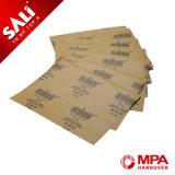 Metal del papel de Kraft del carburo de silicio Cp34 que pule el papel que enarena abrasivo