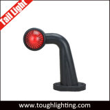 E-MARK 12V 24V 12 LED intermitentes LED rojo y blanco para camiones