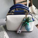 부속품 Sy8521를 가진 가장 새로운 작풍 PU 가죽 여자의 핸드백 색깔 충돌 어깨에 매는 가방