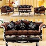 Mobilia del salone impostata con il sofà classico del tessuto (932)