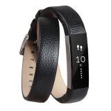 Kleur van de Riem van de Band van de Pols van het Leer van Alta van Fitbit de Echte Zwarte en Langere Zwarte