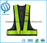 Kalk-Grün-hohe reflektierende Verkehrssicherheit-Weste