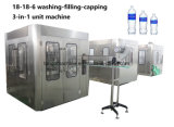 Die Haustier-Flasche beenden, die Mineralwasser-füllenden beschriftenverpackungs-Produktionszweig füllt