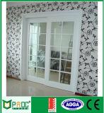 Porte coulissante en aluminium de Pnoc080319ls avec la garniture intérieure d'abat-jour