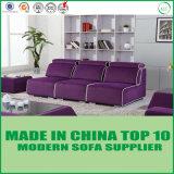 Elegante Möbel-purpurrotes modernes Gewebe-Sofa für Wohnzimmer