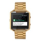 Fitbitの炎のためのフレームが付いている固体3リンク時計バンド