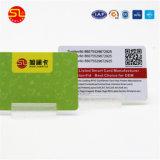 Design de cores de cartão de visita em PVC transparente