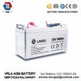 12V 100ah Solarladung-Batterie, 12V 100ah Leitungskabel-Säure-Batterie