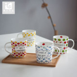 taza de cerámica modificada para requisitos particulares 400ml del diseño/taza de té blanca de la carrocería