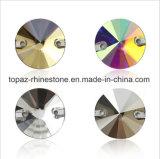 De ronde Toebehoren van de Daling van de Bergkristallen van de Parels van Kristallen Lange naaien voor Stenen 2 van de Kleding Gat (tP-rond)