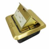 مربّعة ذهبيّة قوس لوح نابض نوع صناعيّة أرضية مقبس تجويف