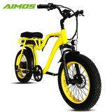 フェンダーが付いている黄色いカラー48V 750W電気バイク