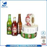 Kundenspezifisches anhaftendes Vinylverpackenwasser-Flaschen-Aufkleber