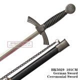 Espadas européias que comandam a espada cerimonial 101cm HK5029 da espada alemão da espada