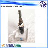 VV22t 4+1 ядер ПВХ изоляцией и пламенно стальной ленты бронированные концентрические проводниковый кабель питания