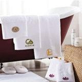 100%年綿のホテルの表面タオル、手タオルの