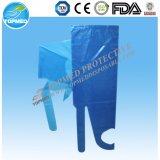 PP plástico PE el delantal de cocina largo impermeable