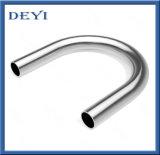 Instalación de tuberías sanitaria de acero inoxidable codo de la curva del codo de 180 grados