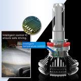 Bulbo lateral do farol do diodo emissor de luz da recolocação G5 três por atacado 50W 6000lm 12V H4 H7 auto