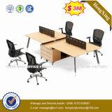 Sitio de trabajo del enchufe de la partición de la oficina de las personas del escritorio de oficina de la melamina 4 (HX-8N0339)