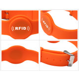Braccialetto comunemente usato dell'ancoraggio del silicone di RFID per il pagamento automatico del supermercato