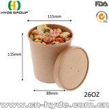 bacia de sopa do papel de embalagem de 26oz Com tampa exalada