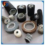 En acier inoxydable serti en Nylon de base du vérin de soies enroulé en spirale des brosses de bobine