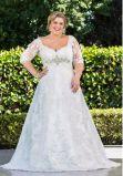 Talla más A - línea alineadas de boda de encargo del cordón de las alineadas de los vestidos nupciales 2018 Z7034