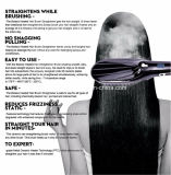 Hair Straightening를 위한 전기 LED Digital Ceramic Iron Hair Straightener Brush