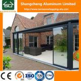 Terrasoverkapping popular con el material para techos de aluminio del marco y del policarbonato
