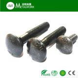 Boulon plaqué galvanisé de collet de grand dos de tête de champignon de couche (DIN603)