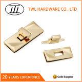 Alliage de zinc Rectangle creux tourner le verrou pour sac à main des accessoires matériels