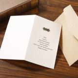 Le mariage de papier fabriqué à la main/salutation/invitation faits sur commande de luxe carde l'impression