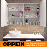물동이를 가진 이탈리아 현대 디자인 검정 래커 저장 목욕탕 미러 내각