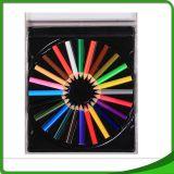 """Ensemble de 24 7 """" crayons en bois populaires de couleur"""