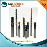 Moinho de extremidade contínuo do carboneto de 4 flautas