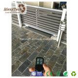 De openlucht Waterdichte Glijdende Poort van de Omheining WPC van de Tuin Elektrische