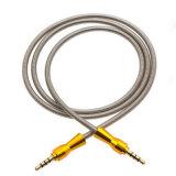 Forte cavo dell'audio della molla 3.5mm del metallo della testa della zucca di alta qualità
