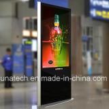 Le bureau de stand d'étage de 55 pouces centre l'écran LCD de publicité promotionnel de l'hôtel DEL