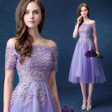Señora atractiva entrecruzada posterior de lujo Dress de la manera