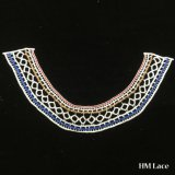 qualité élégante Hm2028 de collier de Madame Dress Lace Trimming Colored de maille de 30*18cm de type de coton de collier de lacet de tissu de beau lacet petit simple d'encolure