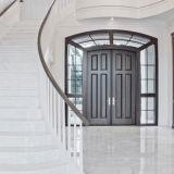 Puertas de madera sólidas con la pintura de la chapa para la residencia