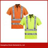 chemises fonctionnantes de sûreté r3fléchissante d'hommes jaunes de qualité de 3m (W63)