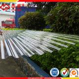 Tôle de toit ondulé en polycarbonate PC Panneaux d'onde à effet de serre de tuiles du toit