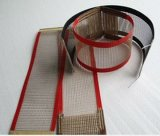 Do engranzamento revestido do Teflon da fibra de vidro da temperatura PTFE do calor correia transportadora