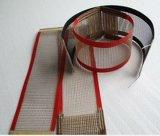 Banda transportadora de la fibra de vidrio de la temperatura PTFE del calor del acoplamiento revestido del Teflon