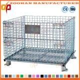 Jaula soldada almacén amontonable industrial del almacenaje del acoplamiento de alambre de acero (Zhra5)