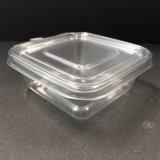 واضحة مربّعة مستهلكة بلاستيكيّة سلطة وعاء صندوق